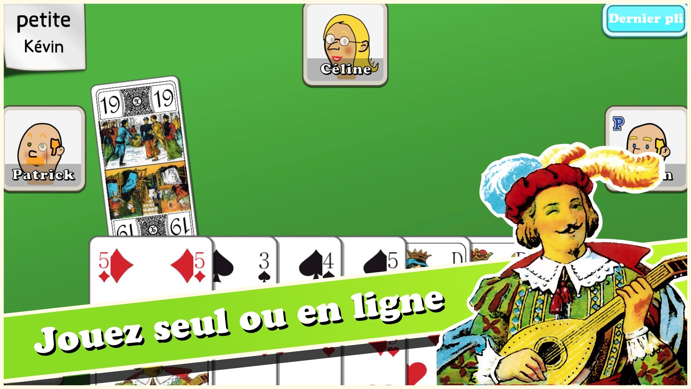 Jouer à la belote en ligne seul ou en multijoueur ! Notre jeu de belote gratuit est sans téléchargement, rejoignez une table de belote en quelques clics.